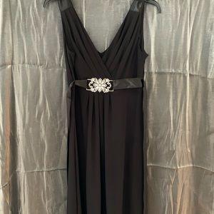 Black Dress with Beaded Sash